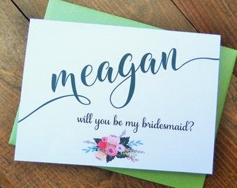 Will You Be My BRIDESMAID Card, Bridesmaid Proposal, Will You Be My Bridesmaid, Ask Bridesmaid Card, Bridesmaid Gift, Bridesmaid Box,