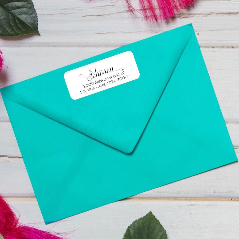 Family Label Return Address Label Couples Return Label Transparent Label Return Address Stickers Wedding Address Label Address Sticker