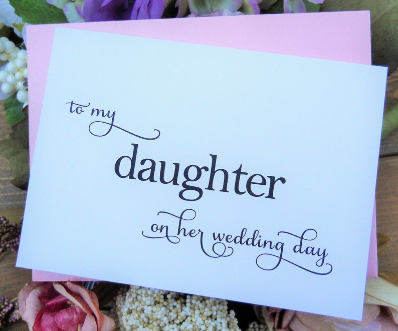 To My Daughter On Her Wedding Day Card Wedding Card For Etsy