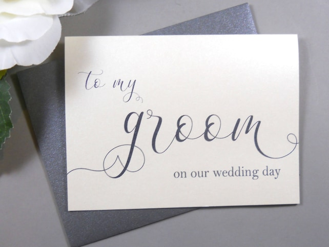 SHIMMER To My GROOM on our Wedding Day Card, To My Groom Card, Wedding Day Card Groom, Wedding Day Gift Groom, Bride Card for Groom