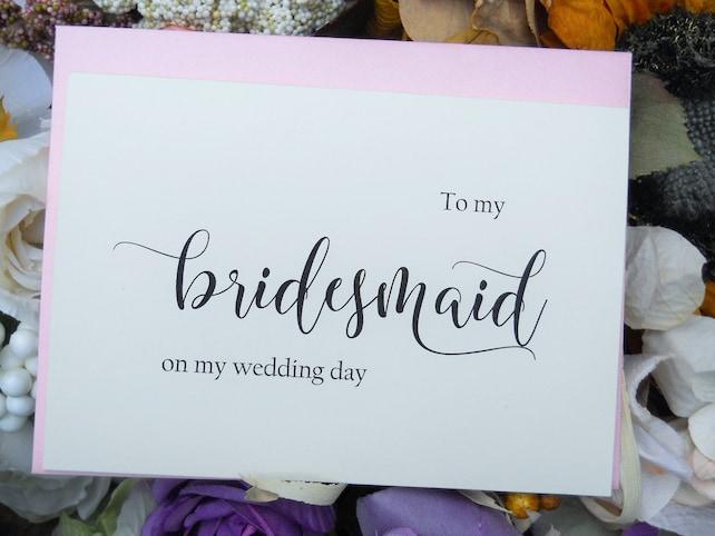 BRIDESMAID CARD, Shimmer Envelope, Wedding Thank You Cards, Wedding Thank You Notes, Bridesmaid Gift, Wedding Stationery
