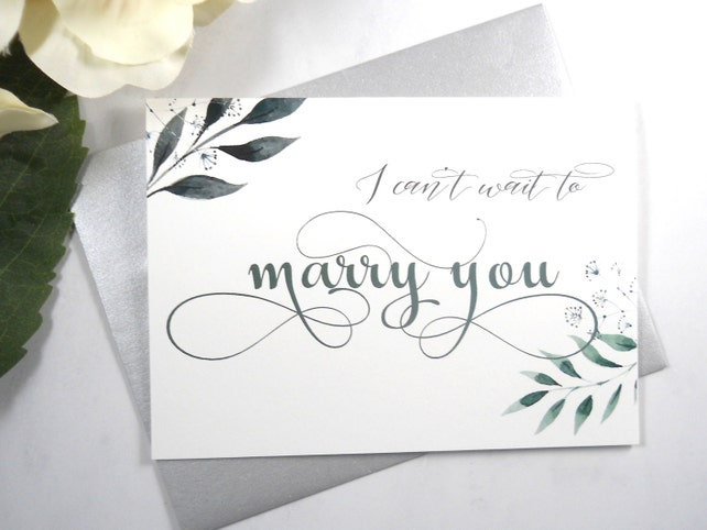 I Can T Wait To Marry You Card Wedding Day Card Bride Wedding Day