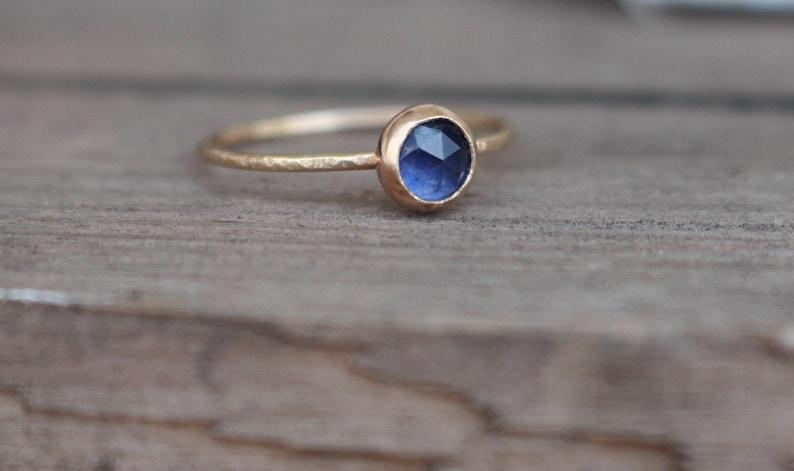 14 k  Gold Sapphire Ring