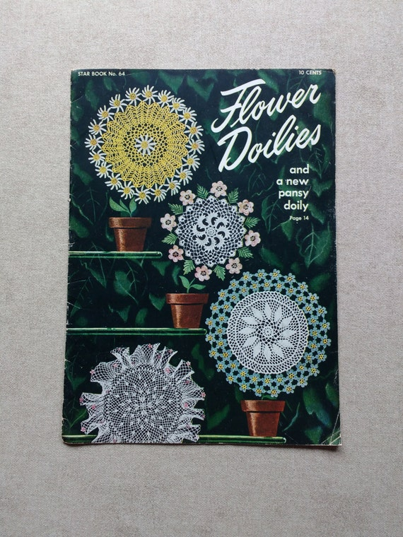Star Doily Book No 64 Flower Doilies Pattern Book | Etsy