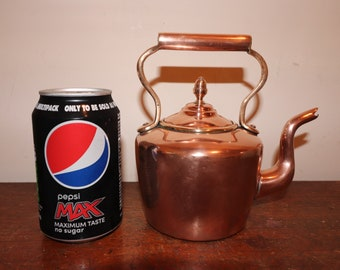 Victorian Copper Kettle. Rare Hand made 1 Pint Dovetailed Traditional Watertight Copper Kettle.