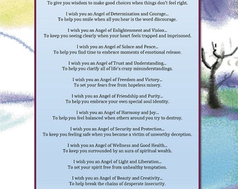 Angelic Energy Wishes - Printable Digital Download