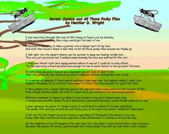 Karmic Justice and All Those Pesky Flies - Printable Digital Download