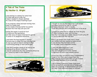 A Tale of Two Trains - Printable Digital Download