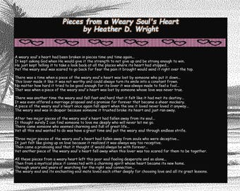 Pieces from a Weary Soul's Heart - Printable Digital Download