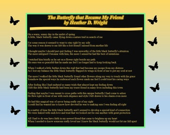 The Butterfly that Became My Friend - Printable Digital Download