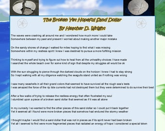 The Broken Yet Hopeful Sand Dollar - Printable Digital Download