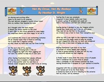 Not My Circus Not My Monkeys - Printable Digital Download