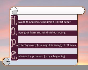 Hope Poster - Printable Inspirational Art Download
