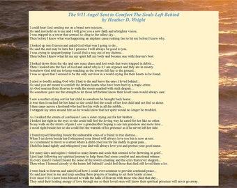 The 9/11 Angel Sent to Comfort the Souls Left Behind - Printable Digital Download
