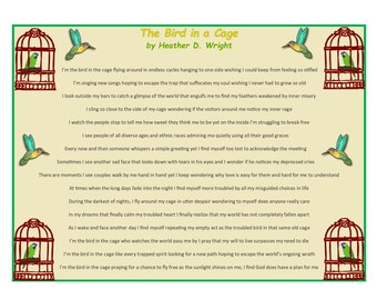 The Bird in a Cage - Printable Digital Download