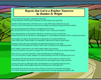 Regrets that Led to a Brighter Tomorrow - Printable Digital Download
