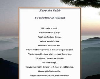 Keep the Faith - Printable Digital Download