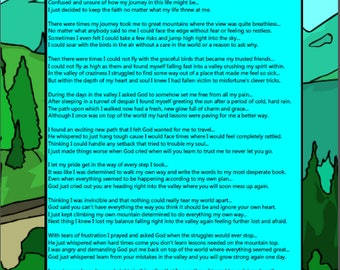 A Trip Through the Mountains and Valleys of Life - Printable Digital Download