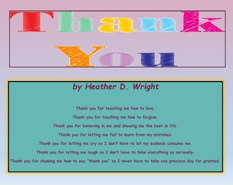 Thank You - Printable Digital Download