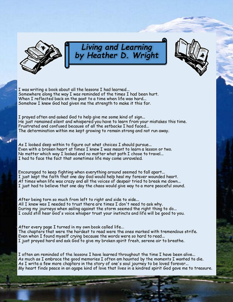 Living and Learning - Printable Digital Download