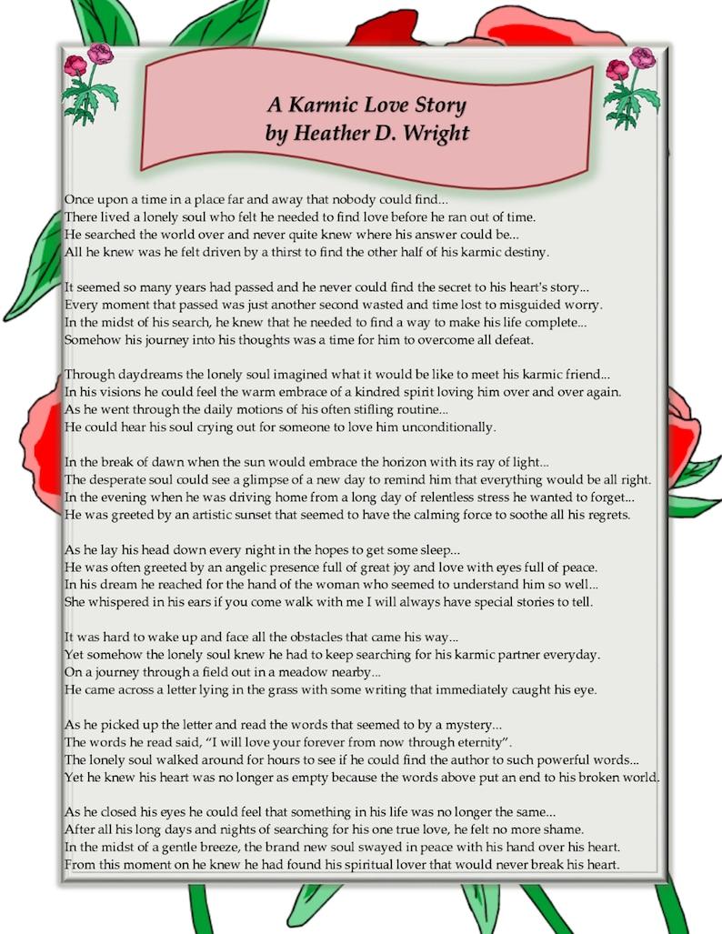 A Karmic Love Story - Printable Digital Download