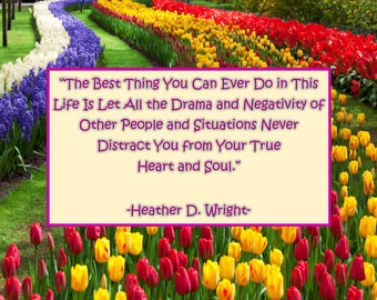Quote on No Drama & True Self - Printable Quote Download