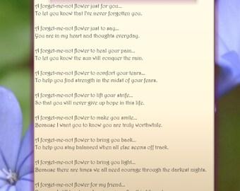 A Forget-Me-Not Flower - Printable Digital Download