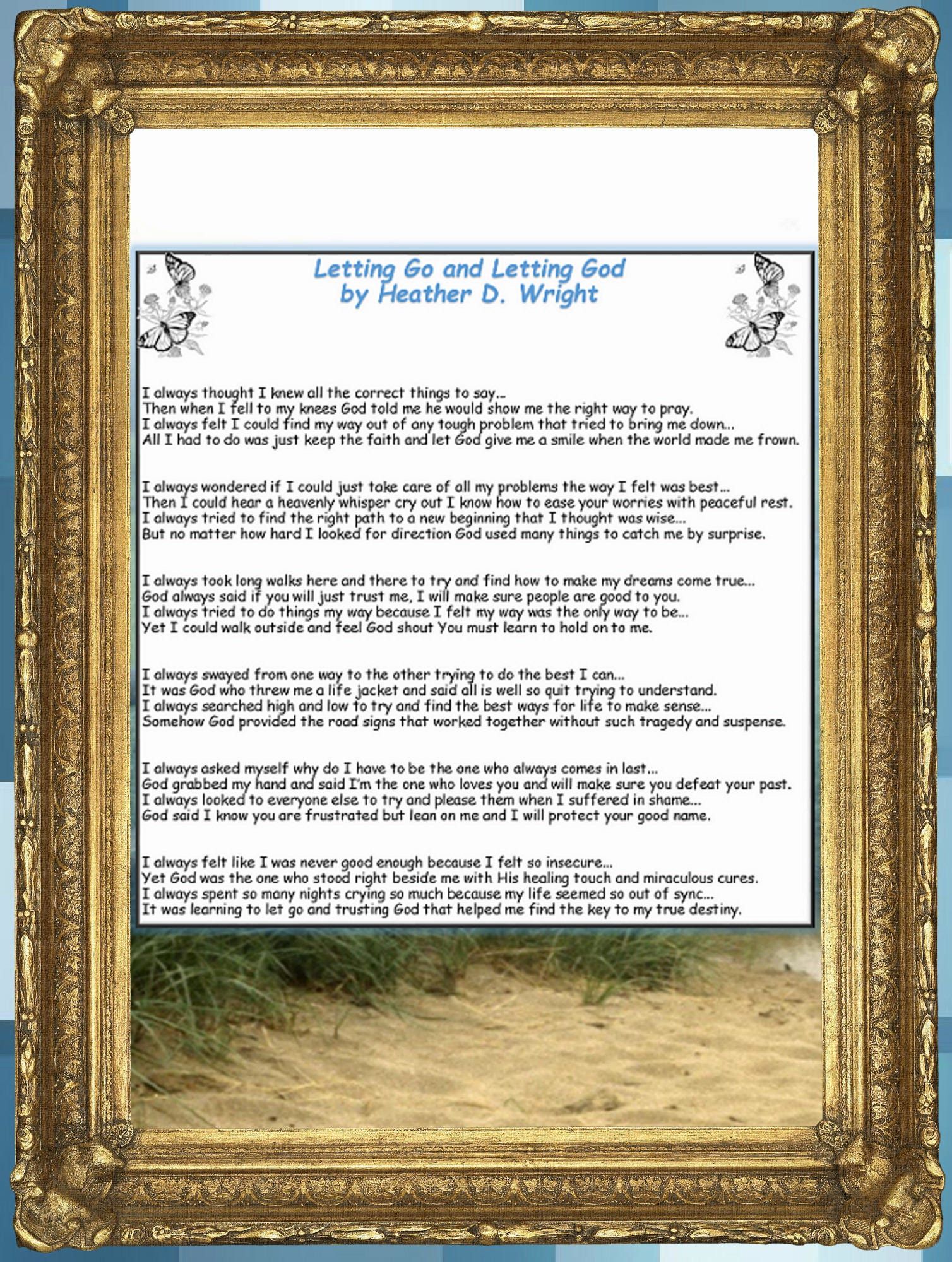 Letting Go and Letting God - Printable Digital Download