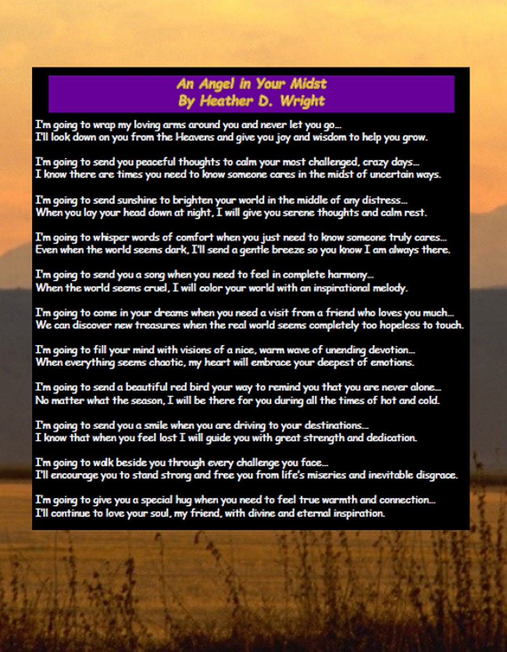 An Angel In Your Midst Printable Digital Download