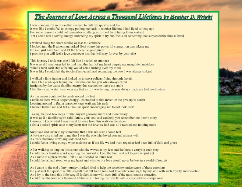 graphic regarding Reason Season Lifetime Poem Printable identify The Trip of Get pleasure from Throughout a Thousand Lifetimes