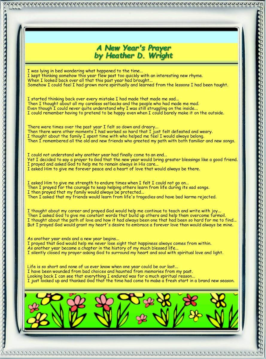 A New Year\'s Prayer - Printable Digital Download
