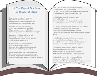 A New Page A New Story - Printable Digital Download