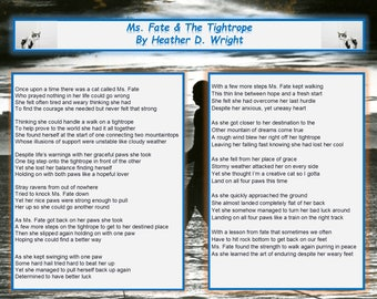 Ms. Fate & The Tightrope - Printable Digital Download