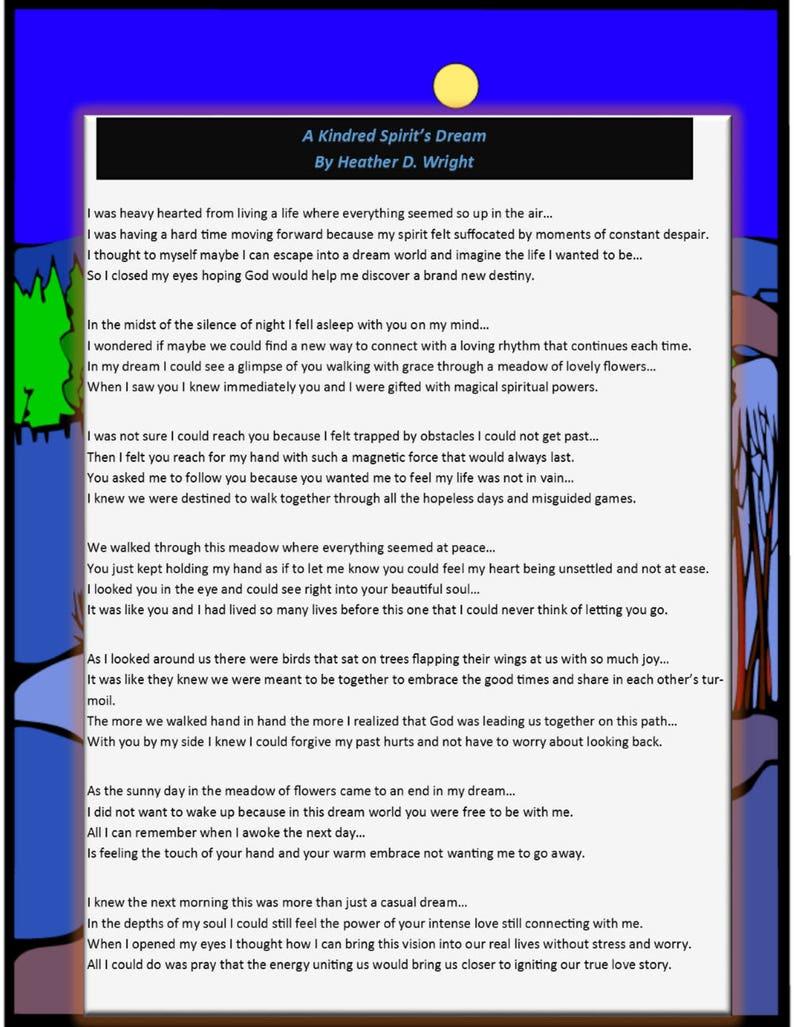 641f1260c187 A Kindred Spirit s Dream Printable Digital Download