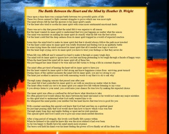 The Battle Between the Heart and Mind - Printable Digital Download