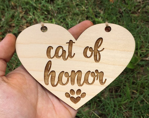 SMALL cat LASER ENGRAVED cat of honor sign My humans are getting married dog puppy sign - Dog Sign Engagement Photo Prop - mommy and daddy