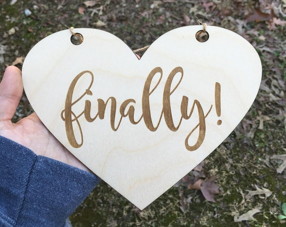 Larger dog LASER ENGRAVED My humans are getting married dog puppy sign - Dog Sign finally Engagement Photo Prop - Heart Pet Photo Wedding