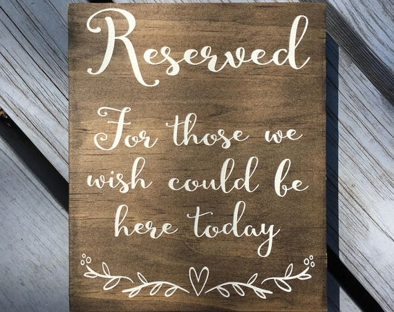 LASER ENGRAVED Forever in out thoughts, In Loving Memory Sign, Loved One sign, Remembrance Rustic Wedding Sign, forever in our hearts, Honor