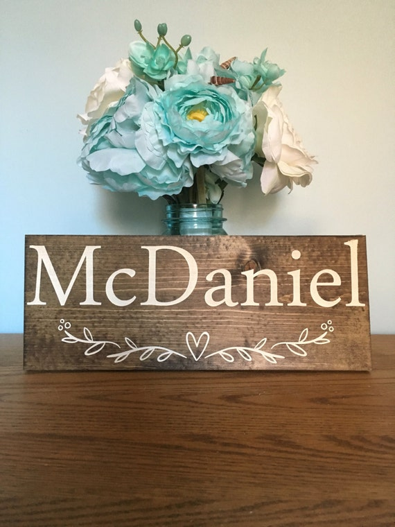 LASER ENGRAVED Family Name Sign - Wood Family Established Sign - Wedding Established Signs - Personalized Wedding Gift - Last Name Sign