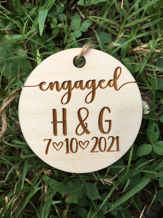 Personalized Unfinished Wooden Christmas Ornament - wedding ornament- Rustic charm Wood Christmas ornament - Couple Christmas ornament