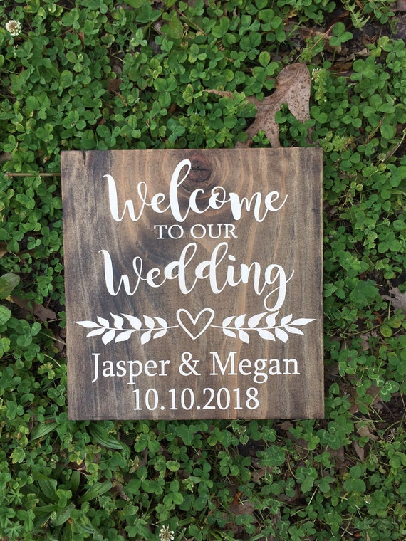 Personalized Welcome Wedding Sign - Personalized Wedding Sign - Our Love Story Personalized Sign Rustic Wedding Sign - custom wood sign