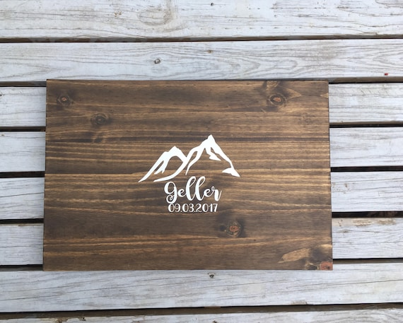 SALE Mountain Guest Book - GUEST BOOK alternative - Wedding Guest Book Sign - Unique Wedding Guest Book-Rustic Guest Book-Personalized guest