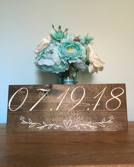 LASER ENGRAVED Wedding Date Photo Prop Sign - Wooden Save The Date Sign - Wedding Date Sign - Engagement PhotoSign - Rustic Wedding Sign