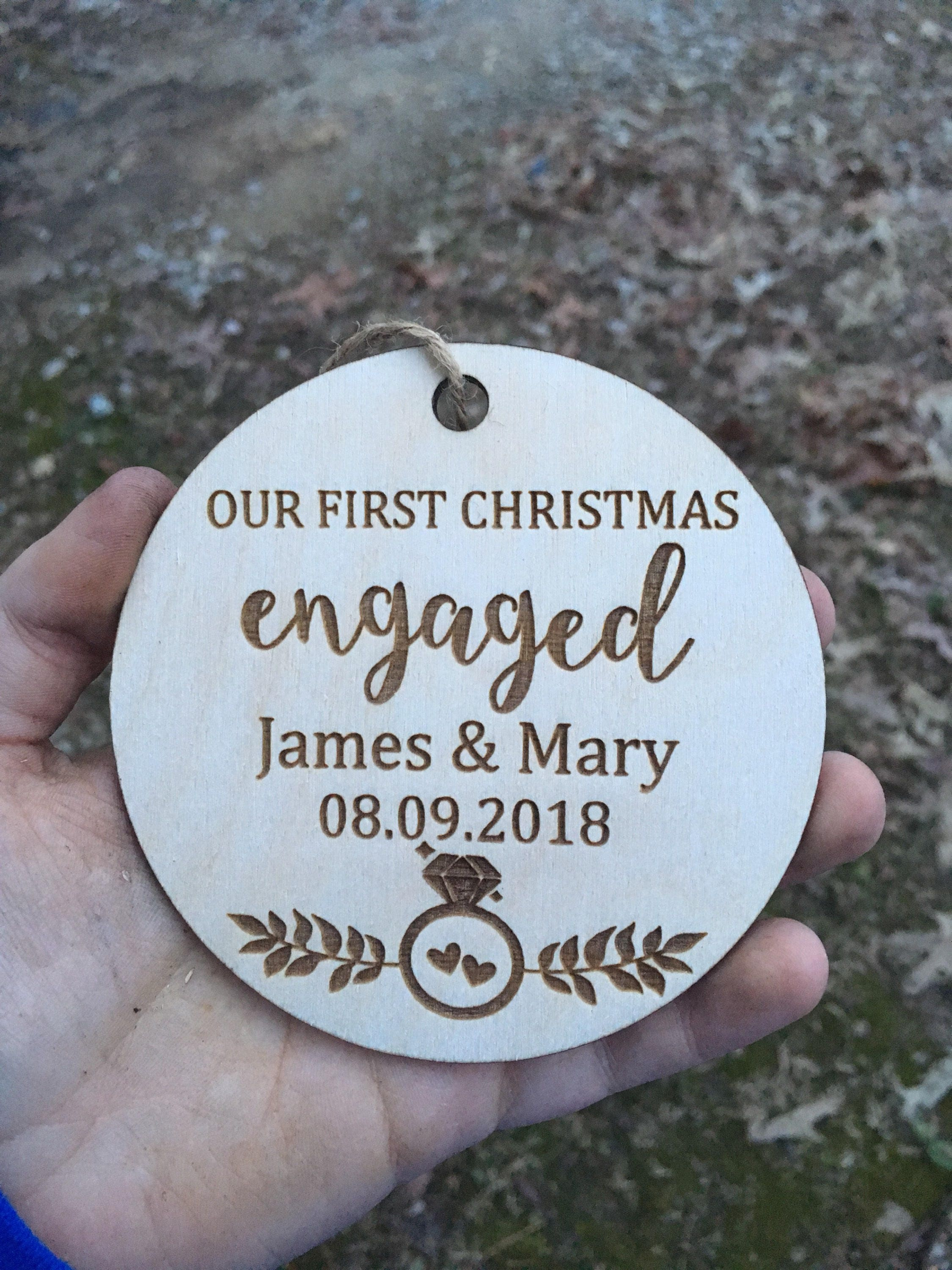 personalized unfinished wooden christmas ornament wedding ornament rustic charm wood christmas ornament couple christmas ornament