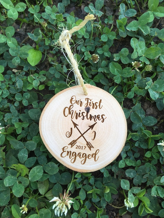 Our First Christmas Engaged She said yes christmas ornament - Our First Engaged Christmas - Personalized Ornament - Engagement Ornament