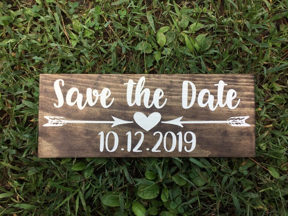 LASER ENGRAVED save the date sign - The hunt is Over Wooden Wedding Sign - Engagement Save the Date Photo prop Sign - Country Wedding Sign