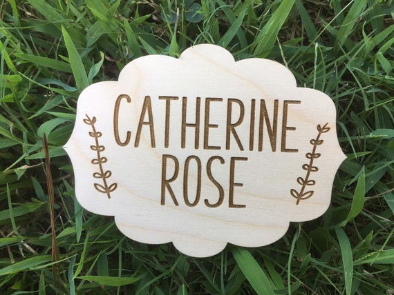 Personalized Birth Announcement Sign - Laser engraved Newborn Photo Prop - Baby Shower Gift - Baby Name Wood - Baby Milestone birth stats