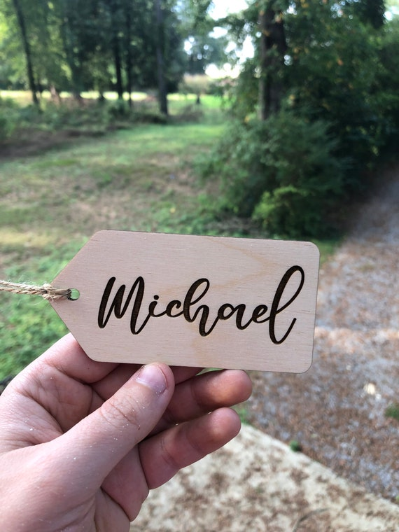 ENGRAVED Personalized Christmas Stocking Tags, Christmas Tag, Stocking Name Tags, Custom Name Tag,  Wooden Name Tags, Personalized Wood Tags