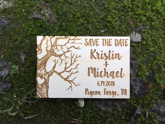 Wooden Save The Date Magnets - Personalized tree Save the Date Magnets - Wooden mountains Save the Date - Wood Save the Date - Magnet forest