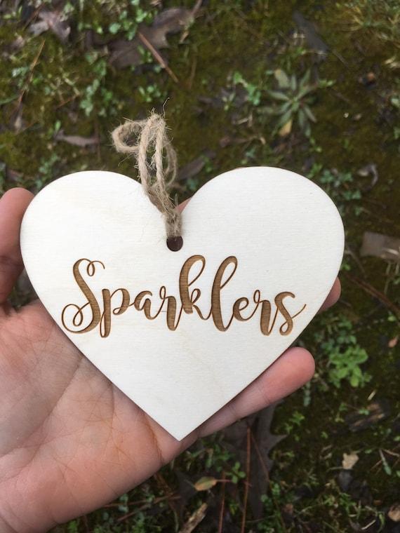 LASER ENGRAVED sparklers heart tag, Mason Jar tag,  Heart Honeymoon Fund tag, fund tag, rustic wedding tag, Bridal Shower Gift, cute wedding